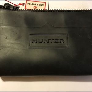 Black Rubber Hunter Wristlet/New.